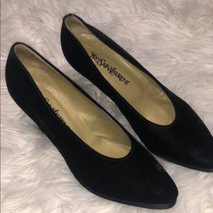 Yves Saint Laurent vintage velvet heels